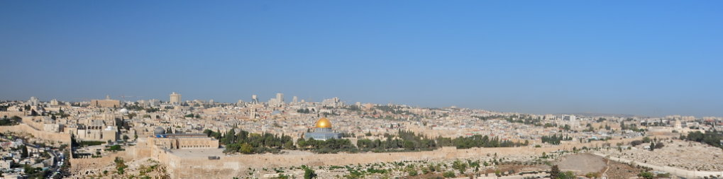 Jerusalem from the Mt. of Olives