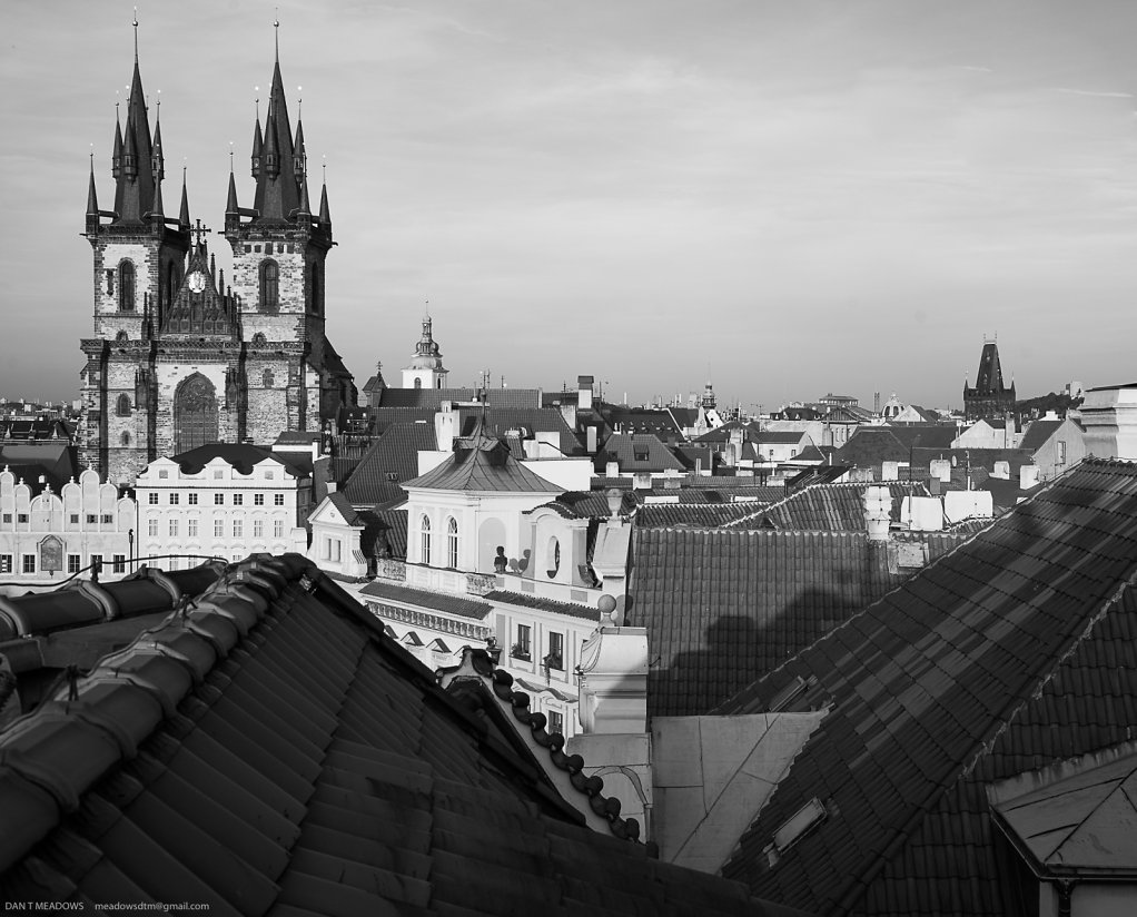 Prague Rooftops B&W
